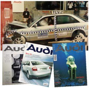 AUDI Crash Test e AUDI Magazine